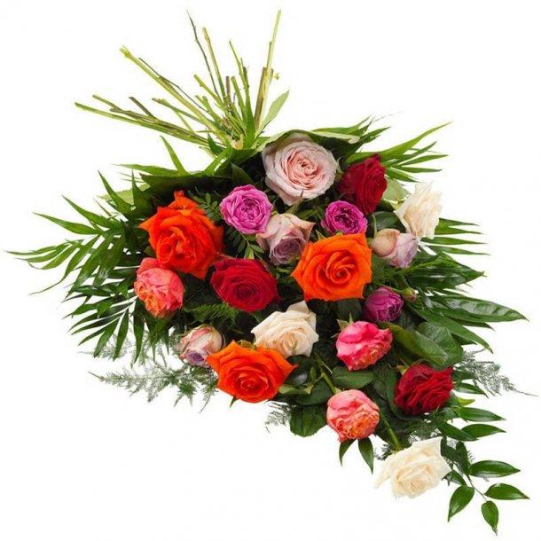 Bårebuket - med roser