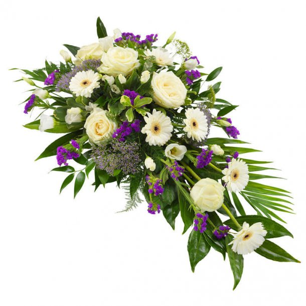 båredekoration hvid og lilla