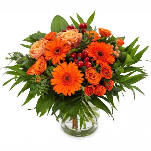 Buket - orange nuancer